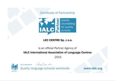 IALC certyfikat www